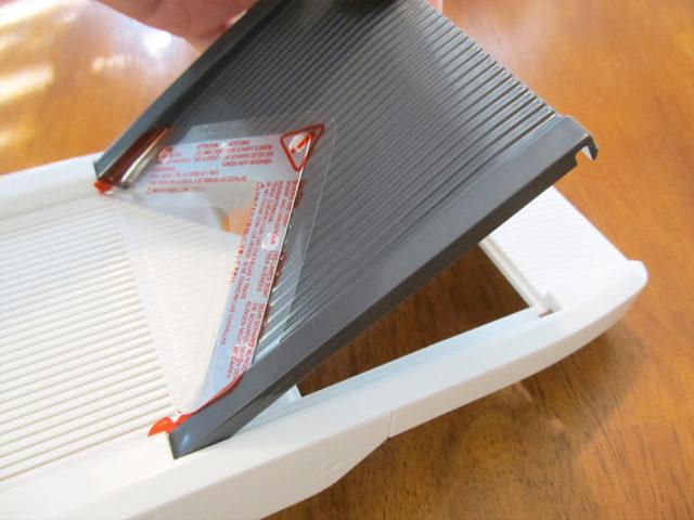 とてもよく切れるスライサー おすすめミュラープロV マルチブレードスライサーのブレード(刃)のセット方法画像