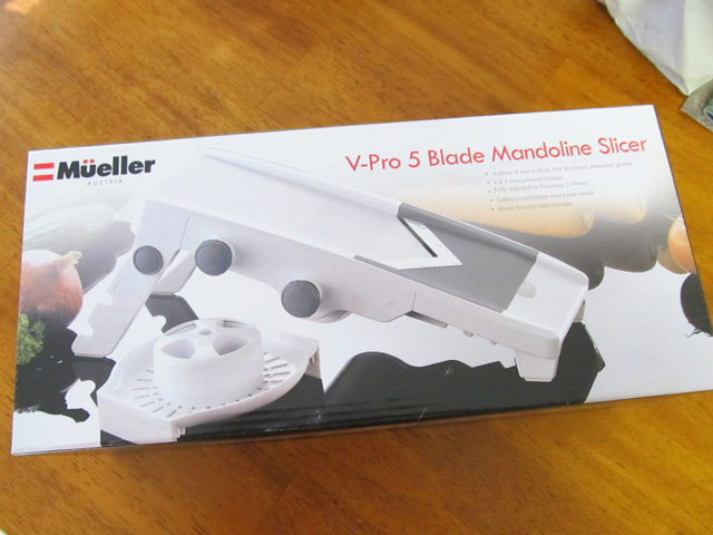 とてもよく切れるスライサー おすすめミュラープロV マルチブレードスライサーの箱の画像