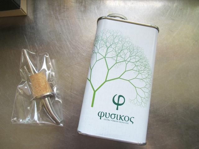 フシコス ギリシャ産エクストラバージンオリーブオイル 高級なオリーブオイルの缶とポアレ―セットの画像