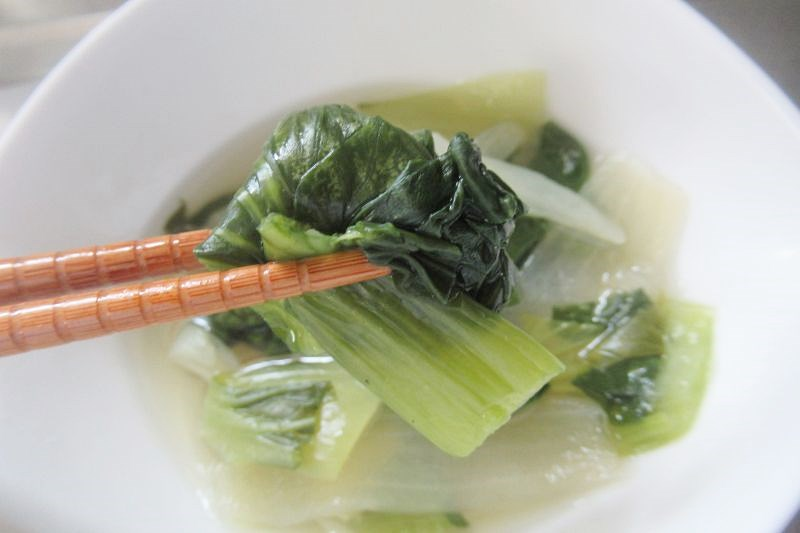 わんまいる 口コミ チンゲン菜のスープ